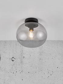 Lampa sufitowa ze szkła  Alton, Szary, transparentny, czarny, Ø 28  x W 24 cm