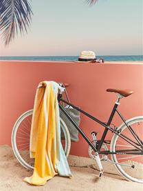 Ręcznik plażowy Sunny Lime, Żółty, jasny niebieski, S 100 x D 180 cm