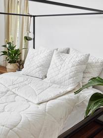 Vegane Bettdecke mit Kapokfaser und Baumwolle, mittel, Bezug: 100% Baumwolle, Weiß, 240 x 220 cm
