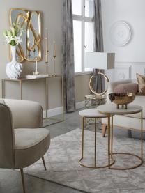 Marmor-Beistelltisch-Set Ella, 2-tlg., Tischplatten: Weißer Marmor Gestelle: Goldfarben, matt, Sondergrößen
