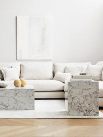 Grand canapé d'angle beige Tribeca, Tissu beige