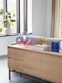 Lampada da tavolo realizzata in vetro colorato Glondy, Paralume: vetro, Base della lampada: vetro, Blu, rosa, Ø 27 x Alt. 29 cm