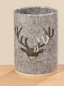 Komplet świeczników Tjark, 2 elem., Szary, ciemnoszary, Ø 10 x W 14 cm