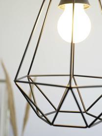 Závěsné svítidlo v industriálním stylu Wire, Stropní kryt kabelu: černá Stínidlo: černá Kabel: černá