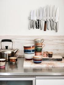 Handgemaakte cappucino mokken 70's in retro stijl, 4-delig, Keramiek, Multicolour, Ø 12 x H 9 cm