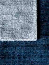 Tappeto in viscosa tessuto a mano Jane, Retro: 100% cotone, Petrolio, Larg. 160 x Lung. 230 cm (taglia M)