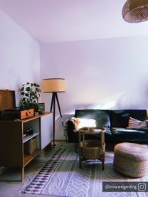 Fluwelen bank Moby (2-zits) in donkergroen met metalen poten, Bekleding: geweven stof (polyester), Frame: massief grenenhout, Poten: gelakt metaal, Fluweel donkergroen, B 170 x D 95 cm