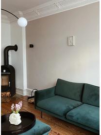 Fluwelen bank Moby (2-zits) in donkergroen met metalen poten, Bekleding: fluweel (hoogwaardig poly, Frame: massief grenenhout, Poten: gepoedercoat metaal, Fluweel donkergroen, B 170 x D 95 cm