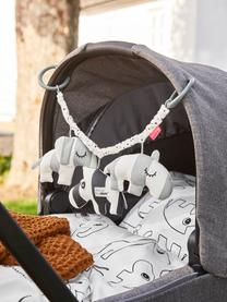 Kinderwagenkette Deer Friends, Bezug: 100% Baumwolle, Grau, L 47 x H 14 cm