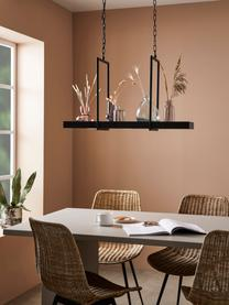 Große LED-Pendelleuchte Tray im Industrial-Style, Lampenschirm: Metall, lackiert, Baldachin: Metall, lackiert, Schwarz, 80 x 50 cm