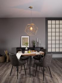 Design hanglamp Cape Town, Lampenkap: vermessingd edelstaal, Messingkleurig, Ø 51  x H 45 cm
