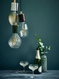 Lampada a sospensione in marmo Siv, Decorazione: metallo, Baldacchino: materiale sintetico, Nero, Ø 6 x Alt. 10 cm