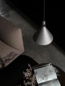 Pendelleuchte Cast aus Metall, Lampenschirm: Aluminium, beschichtet, Dekor: Messing, Baldachin: Metall, pulverbeschichtet, Schwarz, 66 x 32 cm