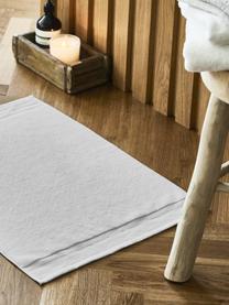 Badematte Premium, rutschfest, 100% Baumwolle, schwere Qualität 600 g/m², Hellgrau, 50 x 70 cm