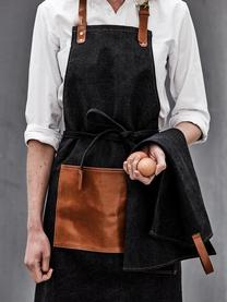 Schürze Asado mit verstellbarem Nackenband, Schwarz, Braun, 70 x 90 cm