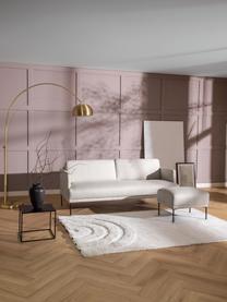 Sofa z  metalowymi nogami Fluente (3-osobowa), Tapicerka: 80% poliester, 20% ramia , Nogi: metal malowany proszkowo, Beżowy, S 196 x G 85 cm