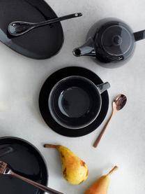 Handgemachte Teekanne Nordic Coal aus Steingut, 1.3 L, Steingut, Bräunlich, 1.3 L