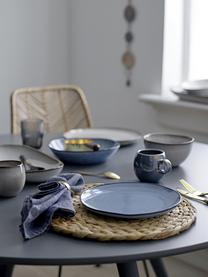 Assiette creuse faite main Sandrine, Ø22cm, Tons bleus