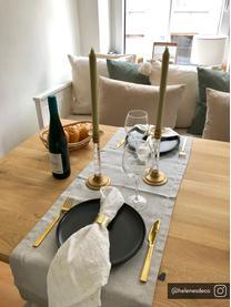 Tafelloper Riva, 55%katoen, 45%polyester, Grijs, 40 x 150 cm