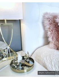 Klassieke tafellamp Vanessa, Lampvoet: metaal, Lampenkap: textiel, Goudkleurig, 27 x 52 cm