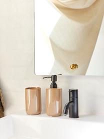Dispenser sapone in ceramica marrone Tin, Contenitore: ceramica, Marrone, nero, Ø 8 x Alt. 13 cm