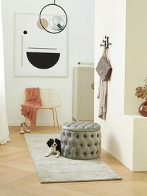 Lampa wisząca ze szkła i metalu Chloe, Szary, czarny, S 40 x W 51 cm