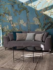 Okrągły stolik kawowy Cupid ze szklanym blatem, Stelaż: żelazo malowane proszkowo, Blat: czarne szkło, Czarny, Ø 83 x W 35 cm