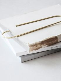Boekenlegger Mega Clip, Gecoat metaal, Messingkleurig, 6 x 25 cm