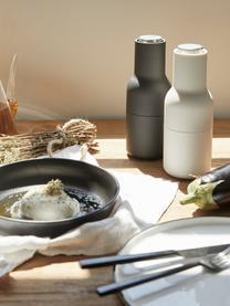 Designer peper- en zoutmolen Bottle Grinder met RVS deksel, Frame: kunststof, Deksel: edelstaal, Antraciet, lichtgrijs, Ø 8 x H 21 cm
