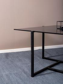 Metall-Couchtisch Hybrid mit Glasplatte, Tischplatte: Hartglas, Gestell: Metall, beschichtet, Grau, Schwarz, B 80 x T 80 cm
