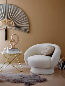 Fotel wypoczynkowy Ted, Tapicerka: poliester Dzięki tkaninie, Stelaż: drewno sosnowe, sklejka, , Biały, S 93 x G 82 cm