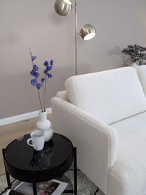 Sofa z metalowymi nogami Teddy Fluente (2-osobowa), Tapicerka: 100% poliester (Teddy) Dz, Nogi: metal malowany proszkowo, Kremowobiały teddy, S 166 x G 85 cm
