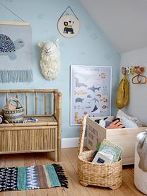 Stampa digitale incorniciata Cay, Cornice: legno rivestito, Blu, multicolore, Larg. 52 x Alt. 72 cm