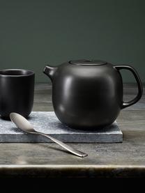 Keramische theepot Nordic Kitchen in mat zwart, 1 L, Pot: keramiek, Mat zwart, 1 L