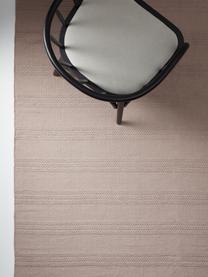 Baumwollteppich Tanya mit Ton-in-Ton-Webstreifenstruktur und Fransenabschluss, 100% Baumwolle, Taupe, B 160 x L 230 cm (Größe M)