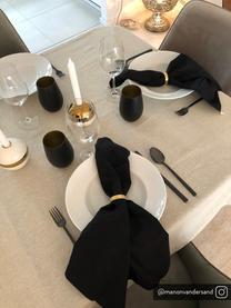 Kryształowa szklanka do koktajli Elements, 6 szt., Szkło kryształowe, powlekane, Czarny, odcienie mosiądzu, Ø 9 x W 12 cm