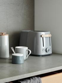 Tostapane in grigio lucido Emma, Manico: legno di faggio, Grigio, Larg. 20 x Alt. 20 cm