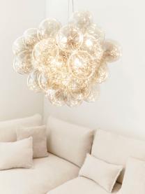 Suspension design grappe à sphères multiples en verre ambré Gross, Ambré