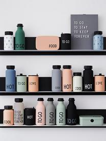Design Isolierflasche TO GO in Grau mit Schriftzug, Flasche: Tritan (Kunststoff), BPA-, Hellblau matt, Schwarz, Ø 8 x H 20 cm