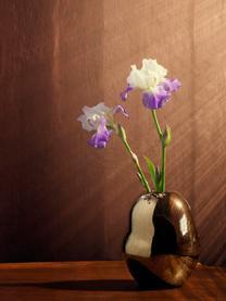 Handgefertigte Design-Vase Fiora aus Porzellan, Porzellan, Goldfarben, Ø 16 x H 20 cm