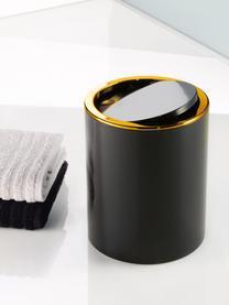 Afvalemmer Golden Clap met klapdeksel, Kunststof, Zwart, Ø 19 x H 25 cm