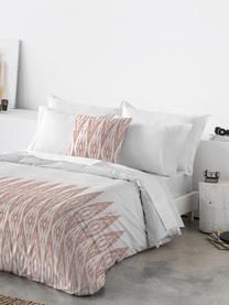 Parure copripiumino in cotone Raden, Cotone, Fronte: rosa, bianco Retro: bianco, 200 x 200 cm + 2 federe 50 x 80 cm