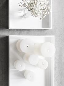 Hoogglans dienblad Hayley in wit, Dienblad: MDF, vijflagig gelakt, Onderzijde: fluweel, Wit, B 50 x D 35 cm