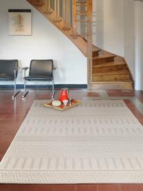 In- & Outdoor-Teppich Naoto mit dezentem Ethnomuster, 100% Polypropylen, Creme, Hellbeige, B 200 x L 290 cm (Größe L)