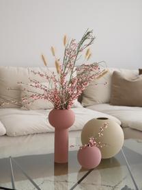 Vaso a sfera fatto a mano Ball, Ceramica, Rosa cipria, Ø 10 x Alt. 10 cm
