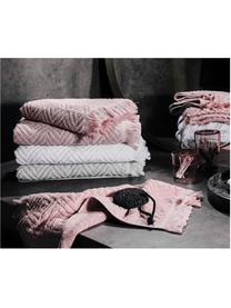 Handtuch-Set Jacqui mit Hoch-Tief-Muster, 3-tlg., Rosa, Sondergrößen
