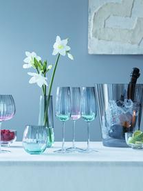 Flute champagne fatti a mano con gradiente Dusk 2 pz, Vetro, Verde, grigio, Ø 6 x Alt. 23 cm