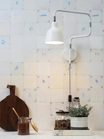 Applique con spina Multi, Paralume: metallo verniciato, Struttura: metallo verniciato, Decorazione: metallo, Bianco, Larg. 63 x Alt. 40 cm