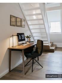 Dimmbare LED-Schreibtischlampe Clyde, Lampenschirm: Metall, beschichtet, Lampenfuß: Metall, beschichtet, Schwarz, 15 x 41 cm
