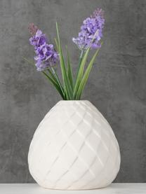 Vaso bianco fatto a mano Fabyo, Gres, Bianco, Ø 12 x Alt. 12 cm
